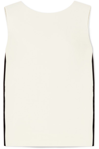 Striped Wool And Silk Blend Top by Burberry