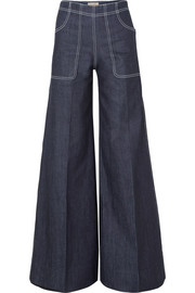 Burberry High-rise wide-leg jeans