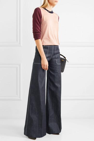 Burberry Hoch sitzende Jeans mit weitem Bein