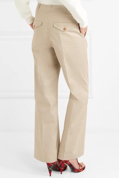 Burberry Hose mit weitem Bein aus Twill aus einer Baumwollmischung