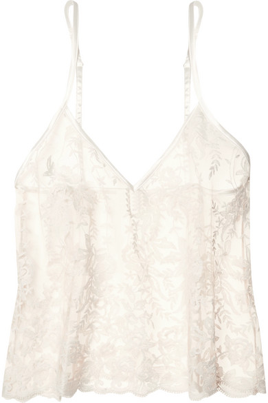 5eaca571a84 Rosie embroidered cotton-blend tulle camisole