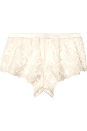 Cosabella Rosie embroidered cotton-blend tulle shorts