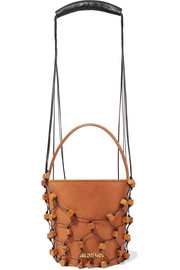 Maracasau convertible leather and macramé shoulder bag