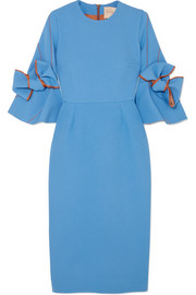 Lavette ruffled crepe midi dress