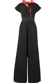 Tristan ruffled silk-georgette jumpsuit