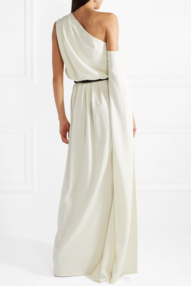 Belted One-shoulder Crepe Gown - Ivory Marc Jacobs E9F3Ep0K1c