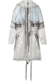 Hooded oversized organza jacket