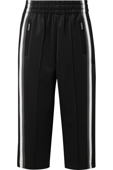 Marc Jacobs Shortened Sweatpants From High-tech Jersey With Stripes