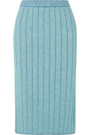 Marc Jacobs Ribbed Lurex midi skirt