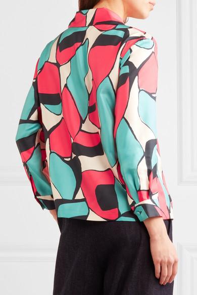 Kosten Für Verkauf Freies Verschiffen Bester Platz Marc Jacobs Bedrucktes Hemd aus Seiden-Twill y6Sc7C