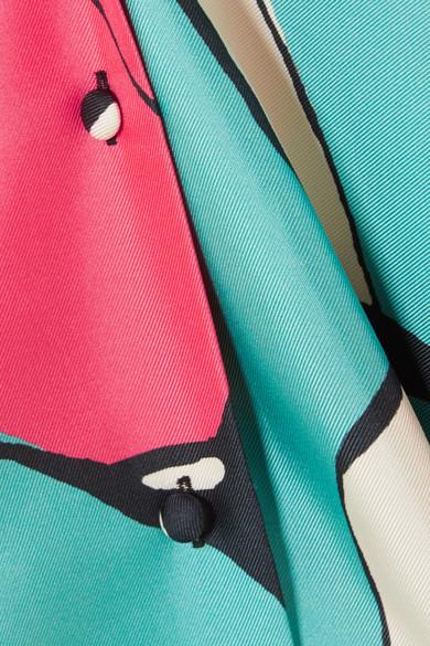 Printed Silk-twill Shirt - Pink Marc Jacobs Low Price Cheap Online Amazing Price Online Under Sale Online Great Deals Online Get Authentic Online uoJxqqxs