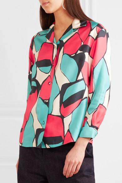Marc Jacobs Bedrucktes Hemd aus Seiden-Twill