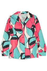 Marc Jacobs Printed silk-twill shirt
