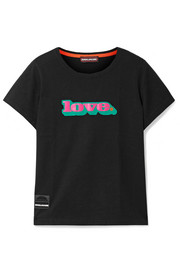 Love printed cotton-jersey T-shirt