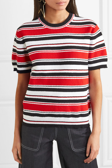 Marc Jacobs Gestreiftes T-Shirt aus Frottee aus einer Baumwollmischung