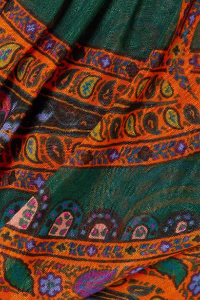 Etro Bedrucktes Maxikleid aus einer Baumwoll-Seidenmischung