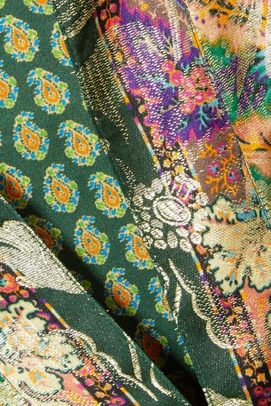 Etro Jacquard-Mantel aus einer Seidenmischung