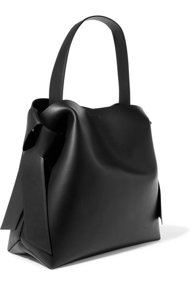 Acne Studios Musubi Maxi Schultertasche aus Leder mit Knotendetails