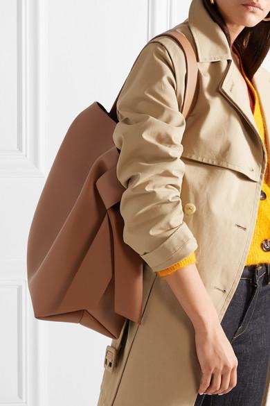 Acne Studios Musubi große Schultertasche aus Leder mit Knotendetails