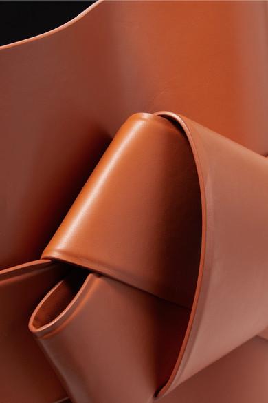 Acne Studios Musubi große Schultertasche aus Leder mit Knotendetail