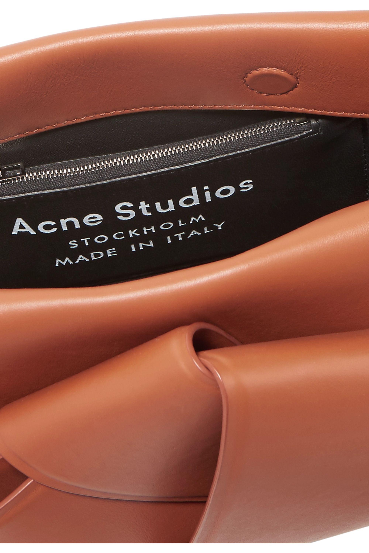 Acne Studios Sac porté épaule en cuir à nœud Musubi