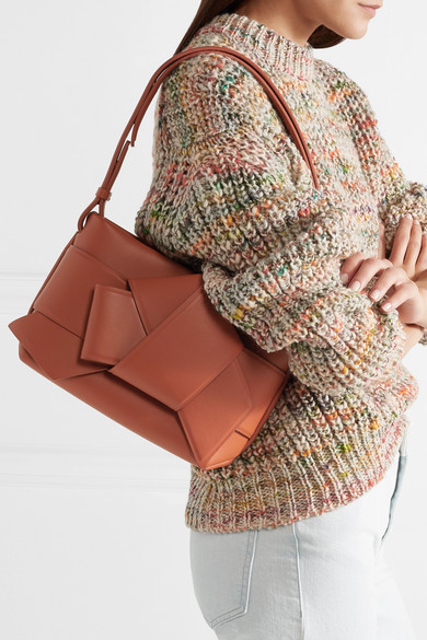 60% cheap kid large discount Acne Studios | Musubi knotted leather shoulder bag | NET-A ...