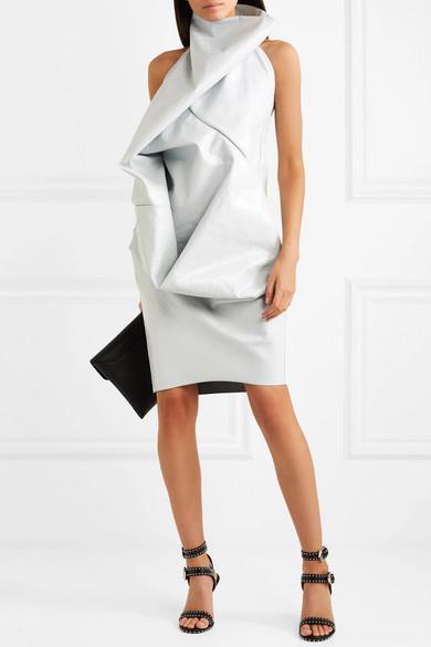 Billige Auslass Billig Verkauf Erkunden Rick Owens Elipse Neckholder-Kleid aus beschichtetem Denim Visa-Zahlung Online Speichern Günstigen Preis Viele Arten Von Online-Verkauf ZPkpb2ZWN