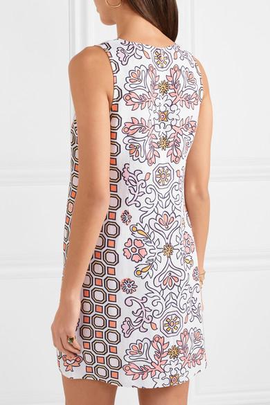 59c0482a75a39 Tory Burch | Hicks Garden printed linen-blend mini dress | NET-A ...