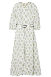 Hilary printed cotton-poplin dress