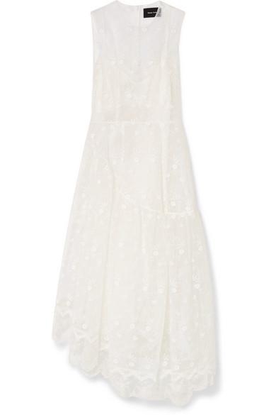 Buy Cheap Low Shipping Free Shipping Pictures Simone Rocha Woman Asymmetric Embroidered Cotton-blend Tulle Midi Dress Black Size 10 Simone Rocha OaKXrq1ys