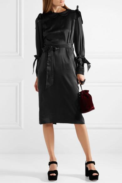 Simone Rocha Kleid aus Seidensatin mit Schleifenverzierung