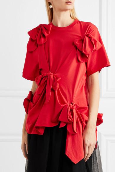 Simone Rocha T-Shirt aus Baumwoll-Jersey mit Schleifen