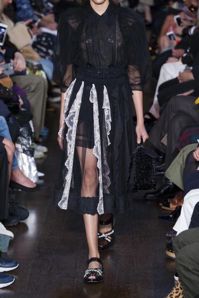 Simone Rocha Doppelreihige Bluse aus Tüll