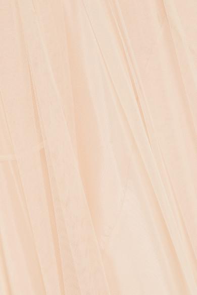 Simone Rocha Midirock aus Tüll mit Falten und Spitzenbesatz