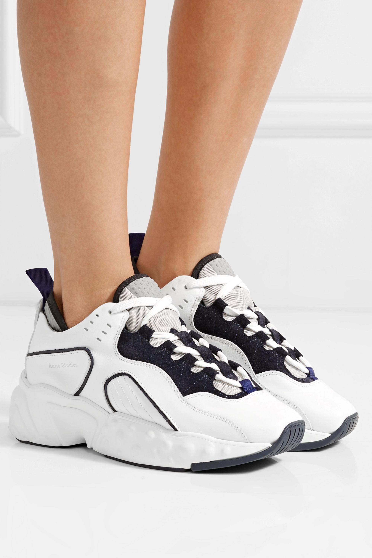 Acne Studios 皮革绒面革网眼运动鞋