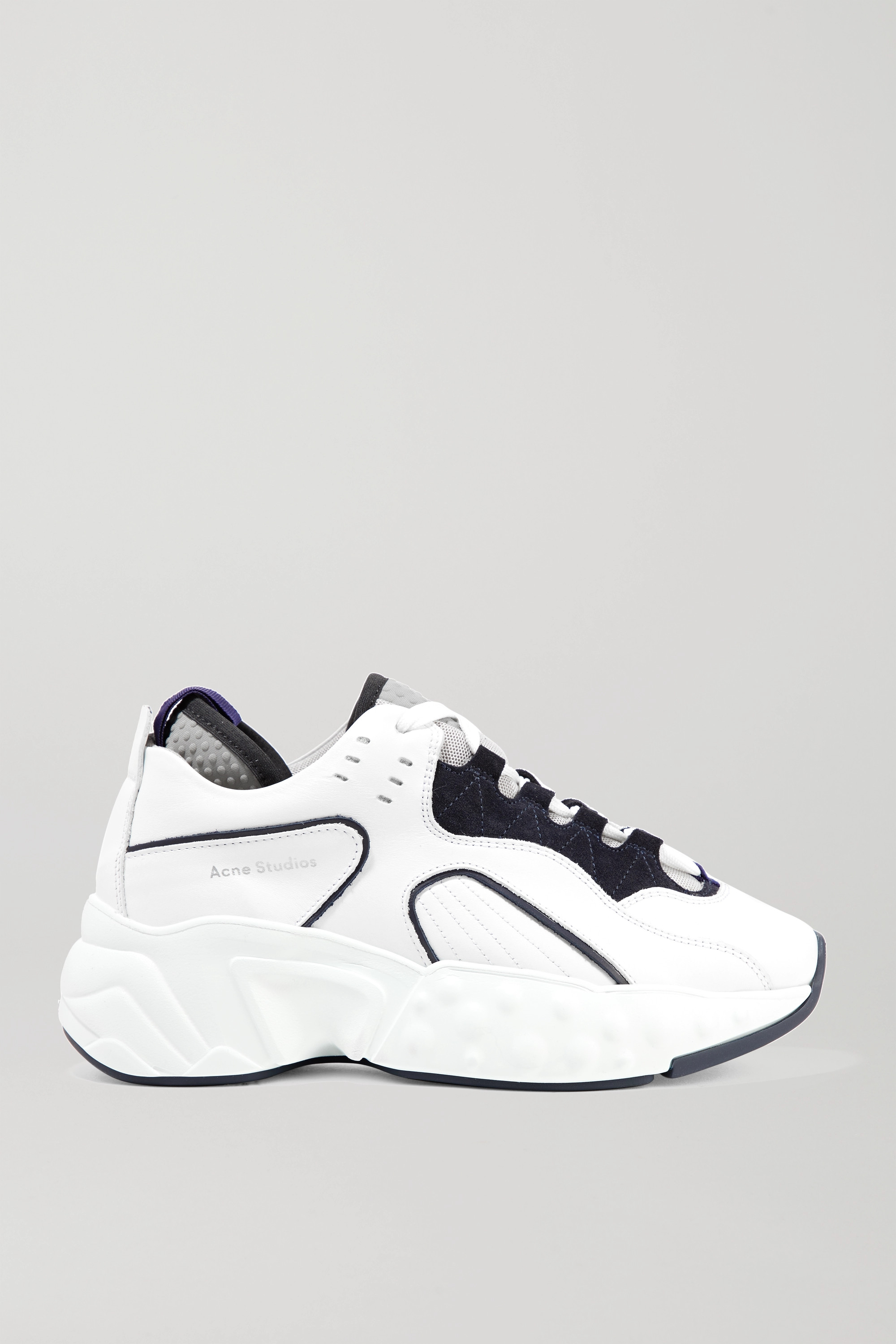 Acne Studios Leather, suede and mesh sneakers