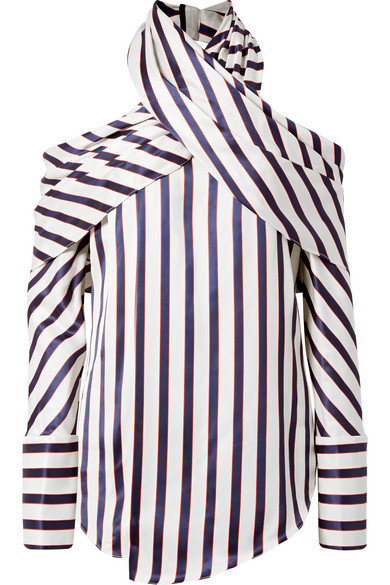 Official Site Sale Online Shop Your Own Asymmetric Striped Twill Blouse - Navy Monse New Style Wiki Online Really Cheap Shoes Online b6bsr06Y