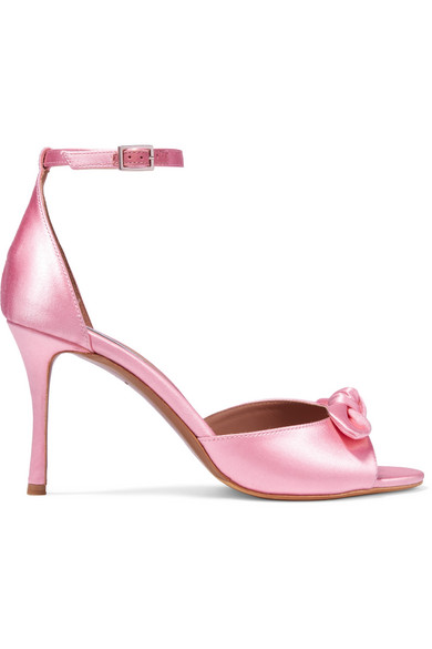 Discount Pay With Visa Tabitha Simmons Mimi Bow-embellished Satin Sandals - Bubblegum Hot Sale Cheap Online Free Shipping Latest Free Shipping From China Fast Delivery Cheap Price h4rDxF15uW