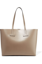 T medium textured-leather tote