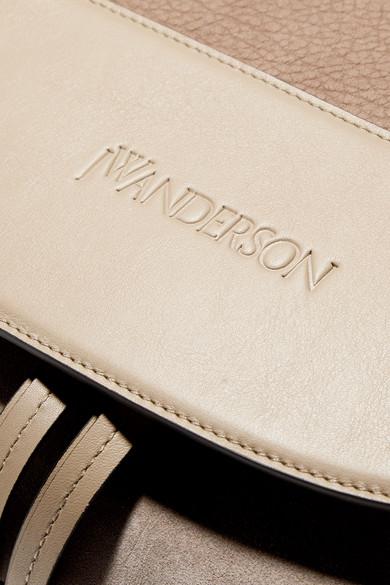 JW Anderson Moon Schultertasche aus Veloursleder und Leder