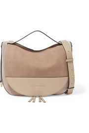 Moon suede and leather shoulder bag