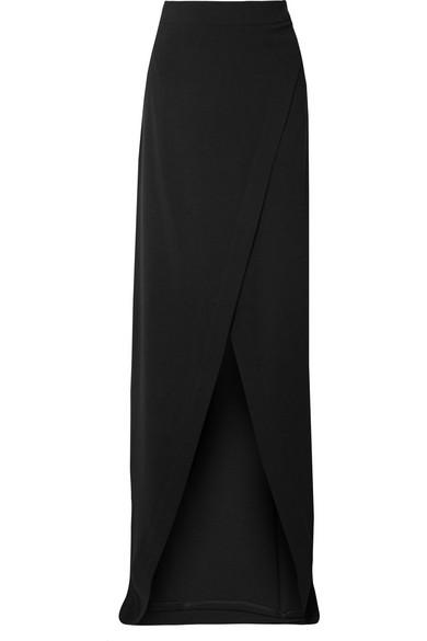 GARETH PUGH Crepe Wrap Maxi Skirt in Black