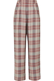 Molly checked crepe trousers