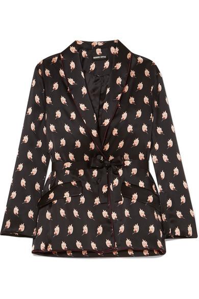 Markus Lupfer Sydney Jacke aus bedrucktem Seidensatin
