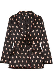 Sydney printed silk-satin jacket