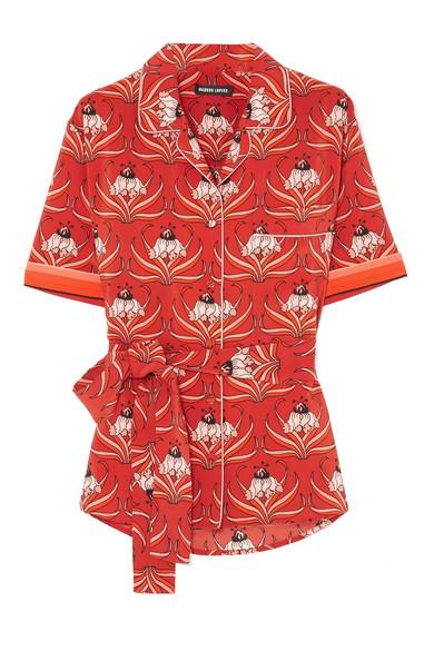 Neue Stile Online Markus Lupfer Bobbie Hemd aus Seiden-Crêpe mit floralem Print Footlocker Günstiger Preis Mode-Stil Online-Verkauf Verkauf Wie Viel qCQwWPt