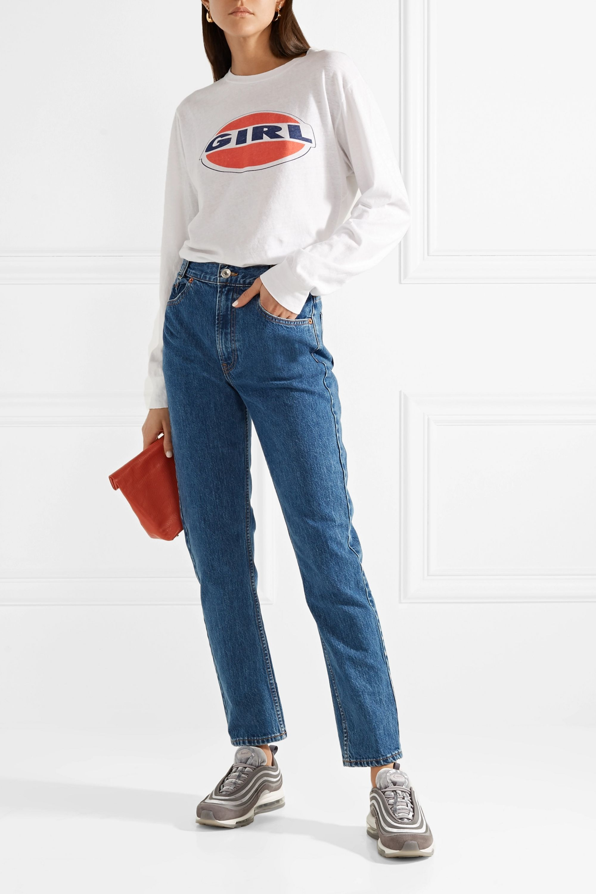 RE/DONE Originals Academy high-rise straight-leg jeans