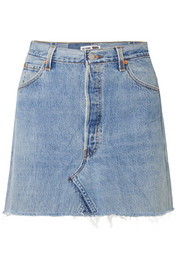 + Levi's distressed denim mini skirt