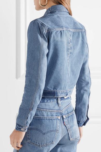 RE/DONE + Levi's verkürzte zweifarbige Jeansjacke