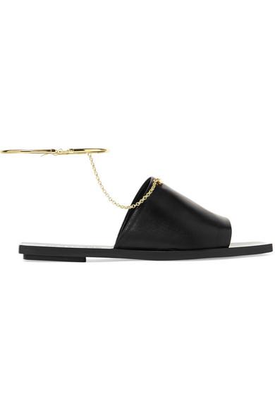 76d34a0cf60e Jil Sander. Embellished leather sandals
